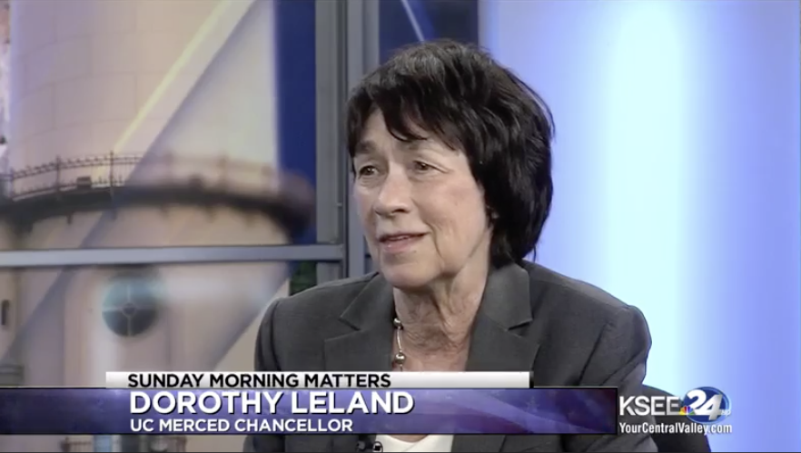 Chancellor Leland interviewed by KSEE 24's Sunday Morning Matters with Mayor Mike Murphy on the Merced 2020 Project