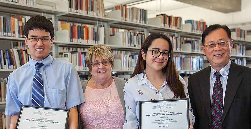 Nathan Parmeter, Arlene Kranich, Melissa Becerra and Haipeng Li