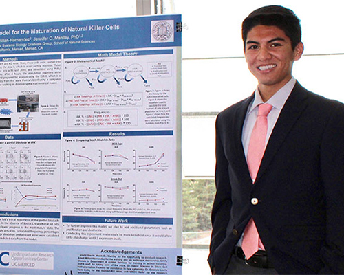 Jeffrey Aceves, who is headed to Harvard to pursue a Ph.D., credits the UROC Summer Undergraduate Research Institute Fellowship with contributing to his success.