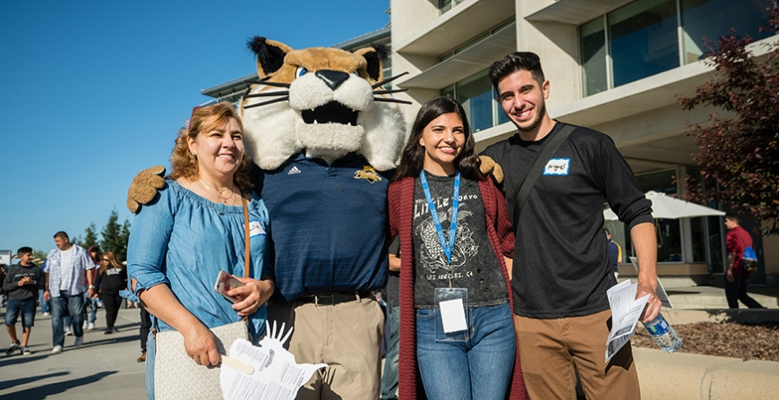 About 1,200 admitted students and their family members visited campus on Bobcat Day, and many accepted their UC Merced admittance offers on the spot.