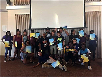 More than 100 middle school students who were part of the Brown Youth Academy slept in residence halls, learned about leadership and careers and attended a class lecture.