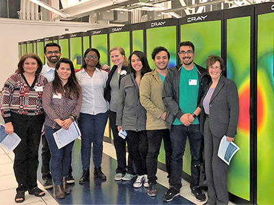 Zatz with UC Merced's 2017-18 NRT ICGE students at Lawrence Berkeley National Laboratory.
