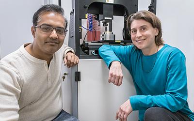 Ph.D. student Azhar Vellore and Professor Ashlie Martini