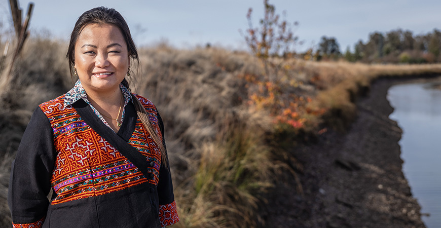 Public Health Ph.D. student Chia Thao's research interests center on improving minority health disparities and promoting well being.